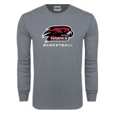 Charcoal Long Sleeve T Shirt-Basketball