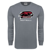 Charcoal Long Sleeve T Shirt-Softball
