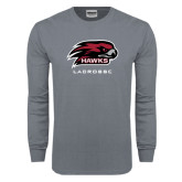 Charcoal Long Sleeve T Shirt-Lacrosse