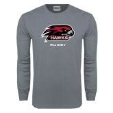Charcoal Long Sleeve T Shirt-Rugby