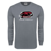 Charcoal Long Sleeve T Shirt-Field Hockey