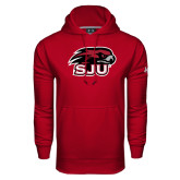 Under Armour Cardinal Performance Sweats Team Hoodie-Hawk Head w/ SUJ