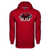 Under Armour Cardinal Performance Sweats Team Hoodie-Hawk Head w/ SJU