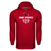 Under Armour Cardinal Performance Sweats Team Hoodie-Basketball Sharp Net Design
