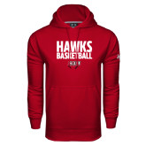 Under Armour Cardinal Performance Sweats Team Hoodie-Hawks Basketball Stacked