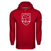 Under Armour Cardinal Performance Sweats Team Hoodie-Soccer Shield Design