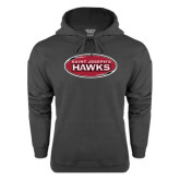 Charcoal Fleece Hoodie-Saint Josephs Hawks