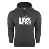 Charcoal Fleece Hoodie-Hawk Nation