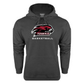 Charcoal Fleece Hood-Basketball