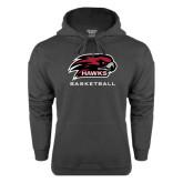 Charcoal Fleece Hoodie-Basketball