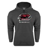 Charcoal Fleece Hoodie-Baseball