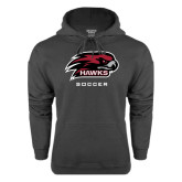 Charcoal Fleece Hood-Soccer