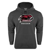 Charcoal Fleece Hoodie-Soccer