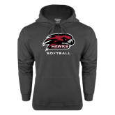 Charcoal Fleece Hood-Softball