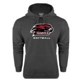 Charcoal Fleece Hoodie-Softball