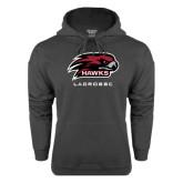 Charcoal Fleece Hoodie-Lacrosse