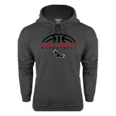 Charcoal Fleece Hood-Basketball Half Ball Design