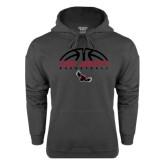 Charcoal Fleece Hoodie-Basketball Half Ball Design