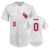 Replica White Adult Baseball Jersey-Women's Personalized