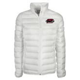 Columbia Mighty LITE Ladies White Jacket-Hawk Head w/ Hawks