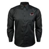 Red House Black Long Sleeve Shirt-Hawk Head w/ SJU