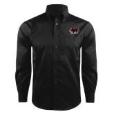 Red House Black Herringbone Long Sleeve Shirt-Hawk Head w/ SJU
