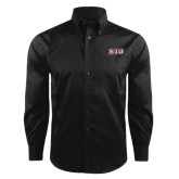 Red House Black Herringbone Non Iron Long Sleeve Shirt-SJU