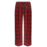 's Red/Black Flannel Pajama Pant-Hawk Head w/ Hawks