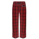 's Red/Black Flannel Pajama Pant-Hawk Head w/ Hawks