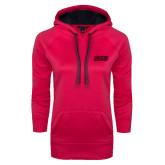 Ladies Pink Raspberry Tech Fleece Hoodie-SJU