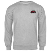 Grey Fleece Crew-Hawk Head w/ Hawks