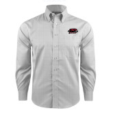 Red House Grey Plaid Long Sleeve Shirt-Hawk Head w/ Hawks