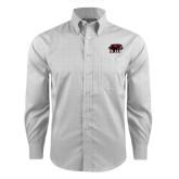 Red House Grey Plaid Long Sleeve Shirt-Hawk Head w/ SJU