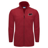Columbia Full Zip Cardinal Fleece Jacket-Hawk Head w/ Hawks