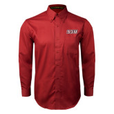 Cardinal Twill Button Down Long Sleeve-SJU