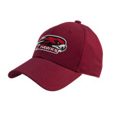 Cardinal Heavyweight Twill Pro Style Hat-Hawk Head w/ Hawks