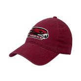 Cardinal Twill Unstructured Low Profile Hat-Hawk Head w/ Hawks