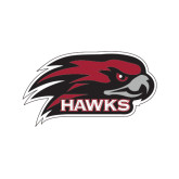 Medium Magnet-Hawk Head w/ Hawks