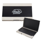 Bey Berk Carbon Fiber Business Card Holder-Hawk Head w/ Hawks Engraved