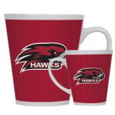12oz Ceramic Latte Mug-Hawk Head w/ Hawks