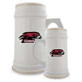 Full Color Decorative Ceramic Mug 22oz-Hawk Head w/ Hawks