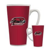 Full Color Latte Mug 17oz-Hawk Head w/ Hawks