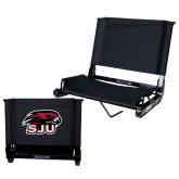 Stadium Chair Black-Hawk Head w/ SJU