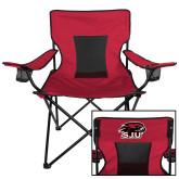 Deluxe Cardinal Captains Chair-Hawk Head w/ SJU
