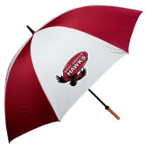's 62 Inch Cardinal/White Umbrella-Primary Mark