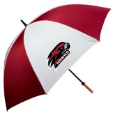 's 62 Inch Cardinal/White Umbrella-Hawk Head w/ Hawks