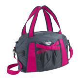 Graphite/Pink Duffel Bag-Primary Mark