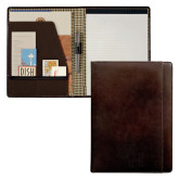 Cutter & Buck American Classic Mahogany Writing Pad-SH Paw Official Logo Debossed