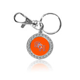 Crystal Studded Round Key Chain-SH Paw Official Logo