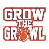 Medium Decal-Grow the Growl, 8in Tall